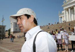 Hamed Shafae, Rauha Afganistanille -mielenosoitus (Senaatintori)