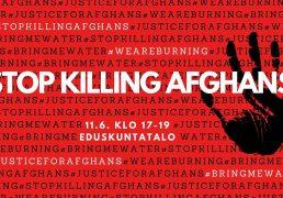 Terveiset STOP Killing Afghans -mielenosoituksen yhdeltä järjestäjältä
